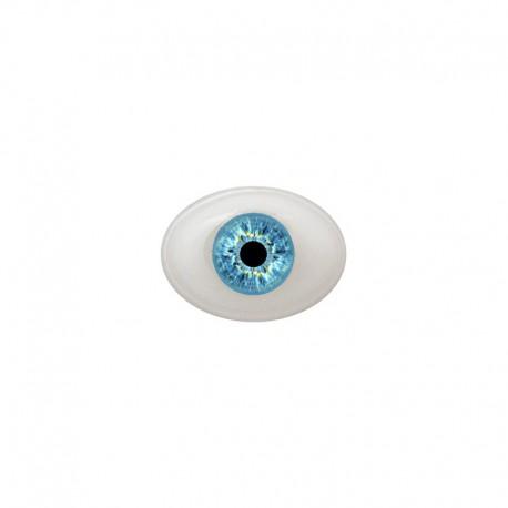 Augen oval blau