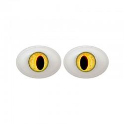Augen oval gelb